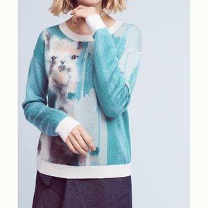 Anthropologie Llama Sweater